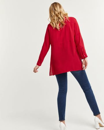 Long Sleeve Tunic with Snap Buttons