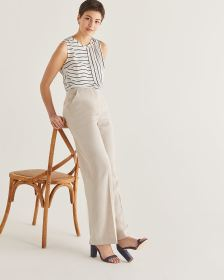 Willow & Thread Linen-Blend Wide Leg Pants