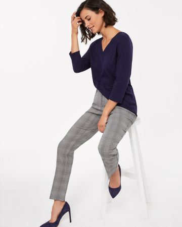 The Petite Iconic Straight Leg Pattern Pants
