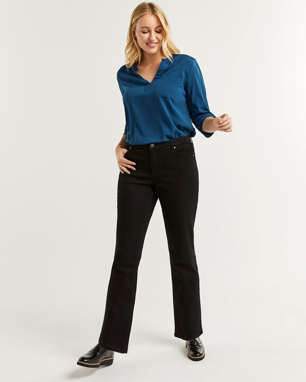 Black Straight Leg Jeans The Insider