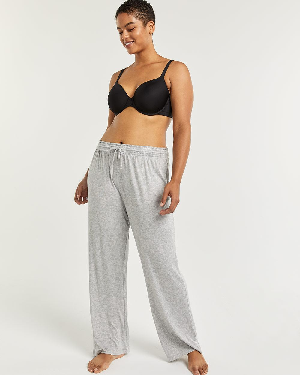 Straight Pyjama Pants with Drawstring