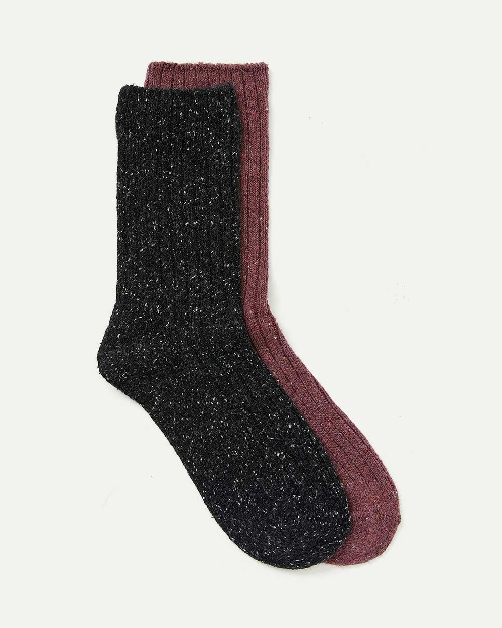 2-Pack Nep Yarn Boot Socks