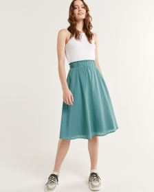 Clip Dot Skirt With Frills