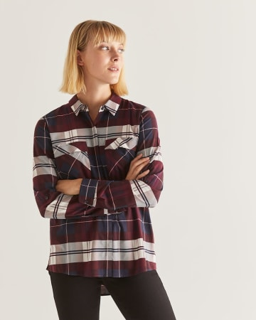 Plaid Shirt with Pockets