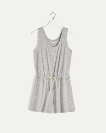Sleeveless Ribbed Pyjama Romper