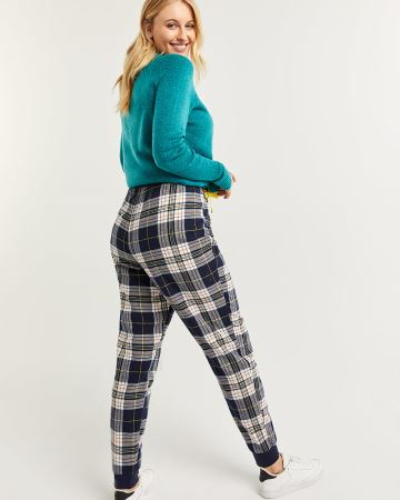 Plaid Pyjama Joggers with Drawstring