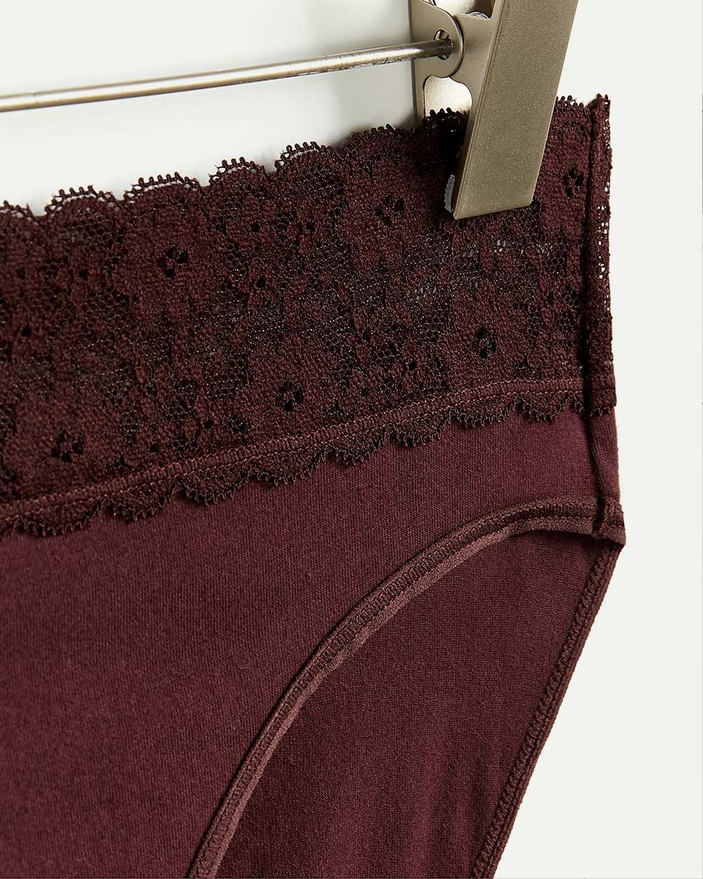 Cotton High Waist Panty with Lace
