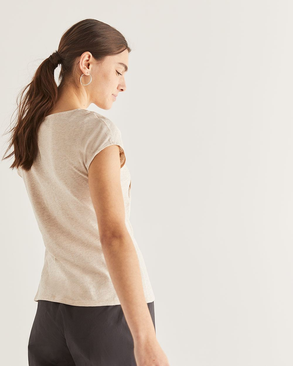 T-shirt noeud au cou Willow & Thread
