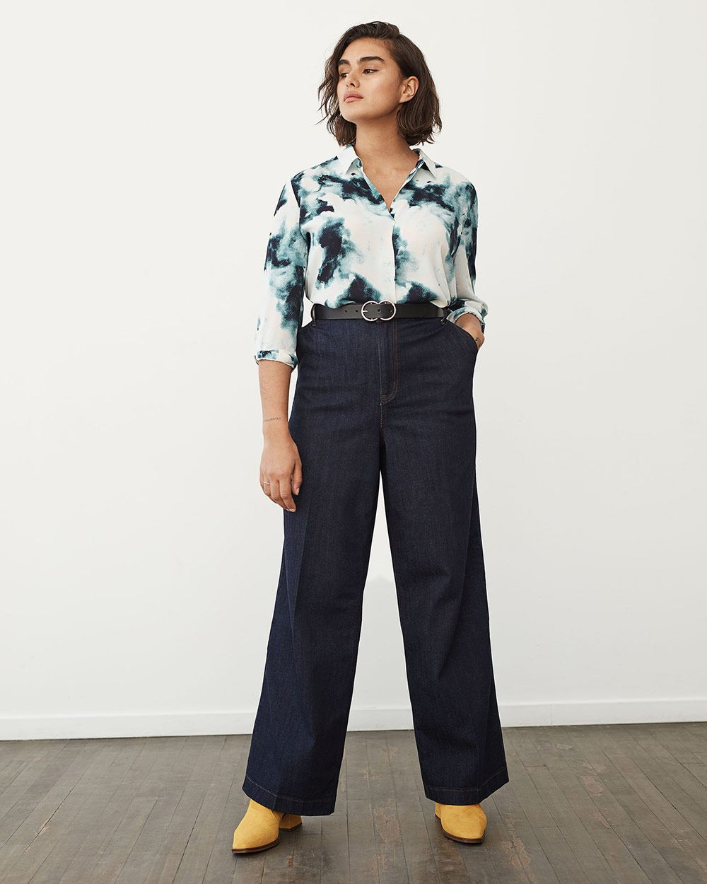 High-Waisted Wide Leg Jeans