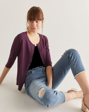 R Essentials 3/4 Sleeve Cardigan