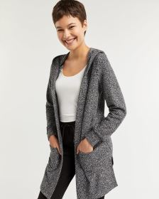 Brushed Knit Hooded Cardigan