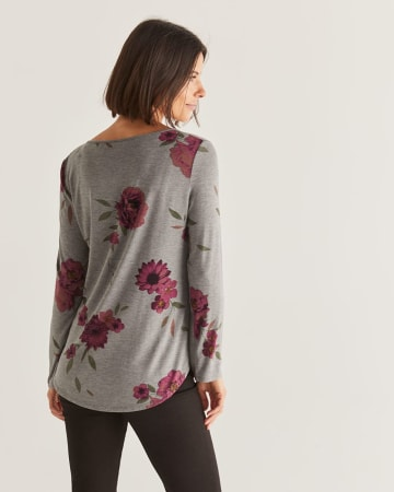 Split Neck Buttoned Top