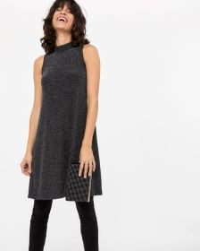 Sleeveless Mock Neck Dress