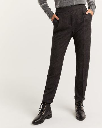 Nep Yarn Slim Leg Pull On Pants - Petite