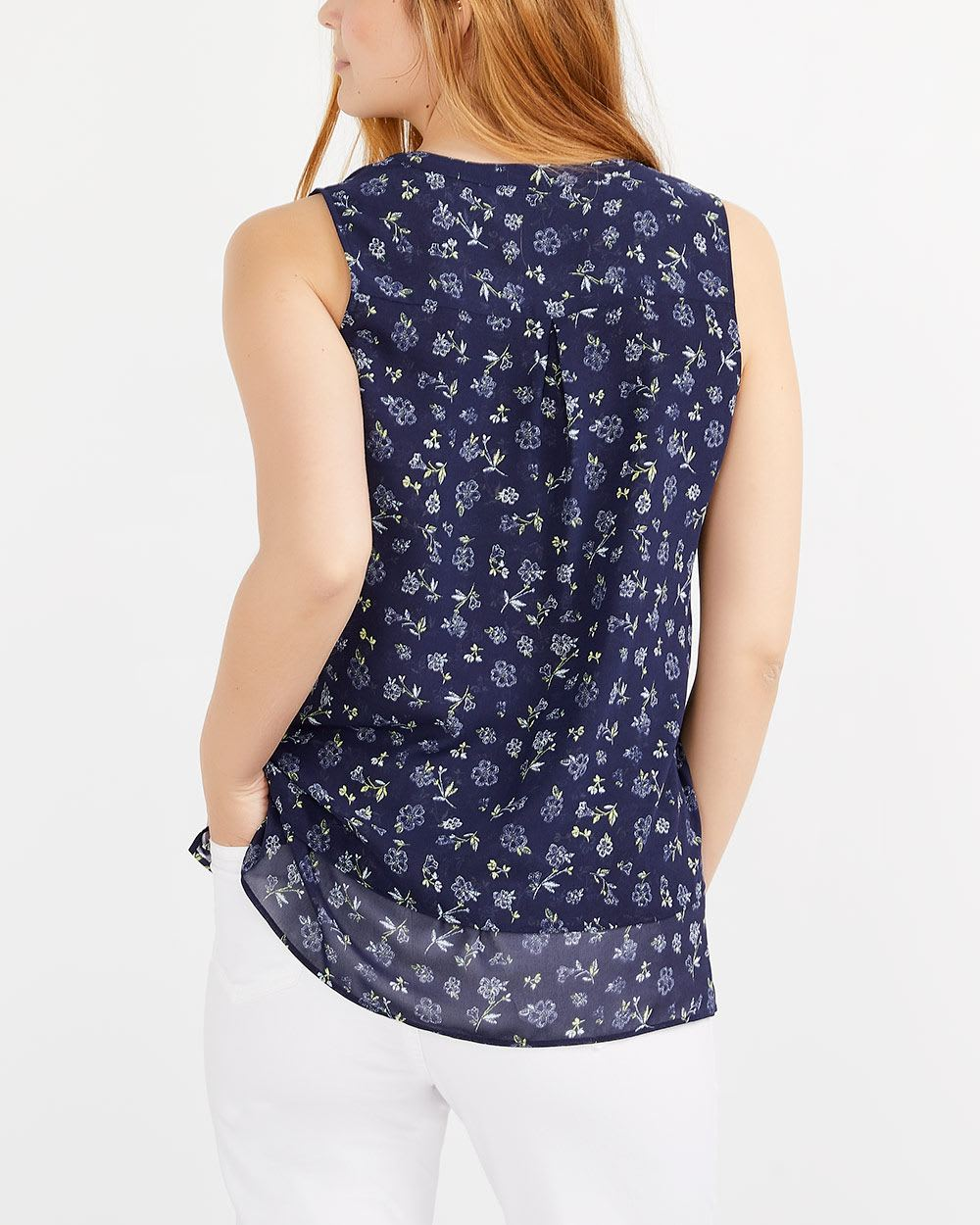 Sleeveless Tier Blouse