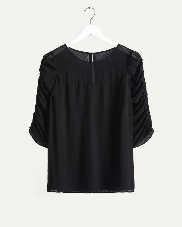 3/4 Sleeve Bustier-Like Blouse