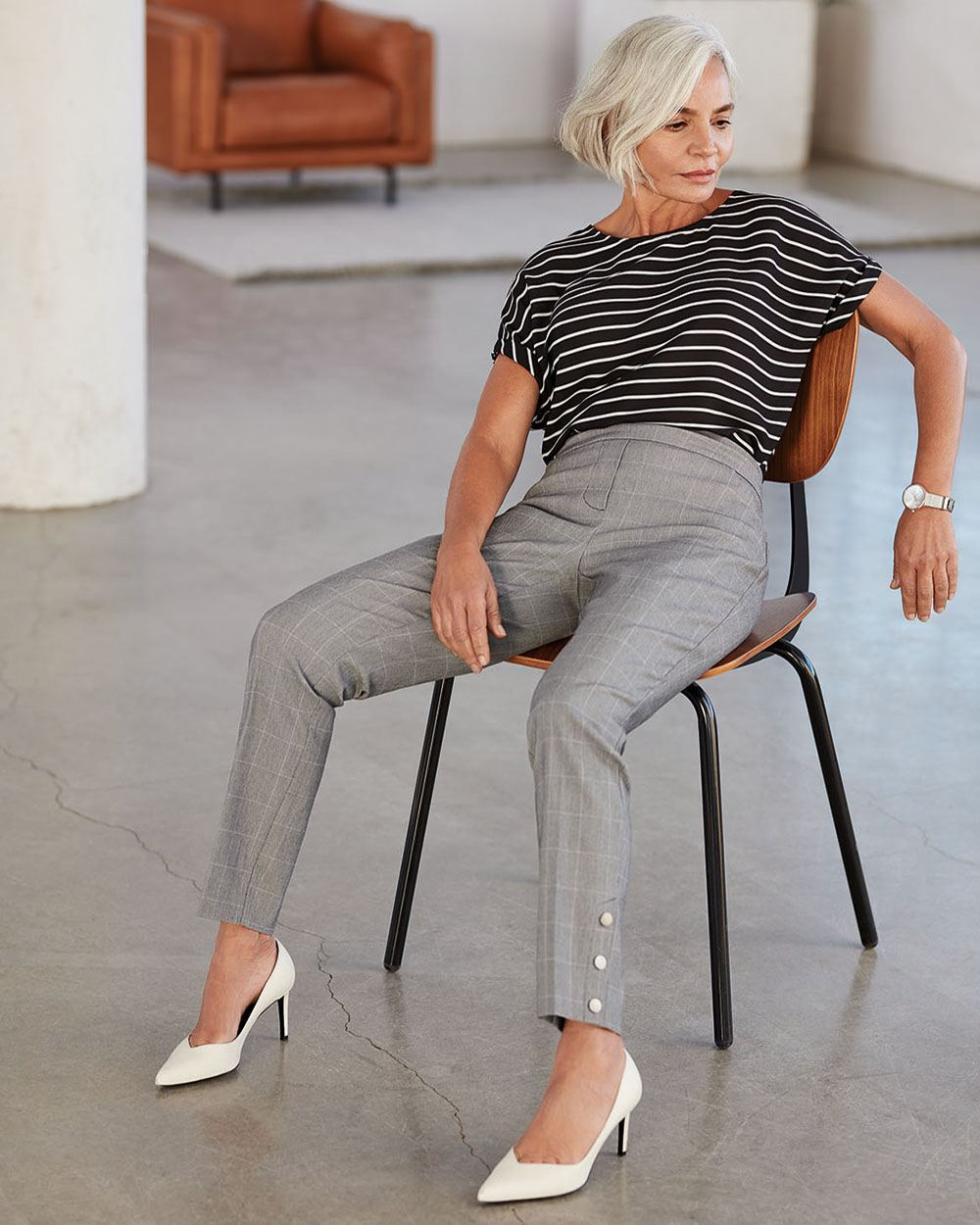 Slim Windowpane Pants The Iconic