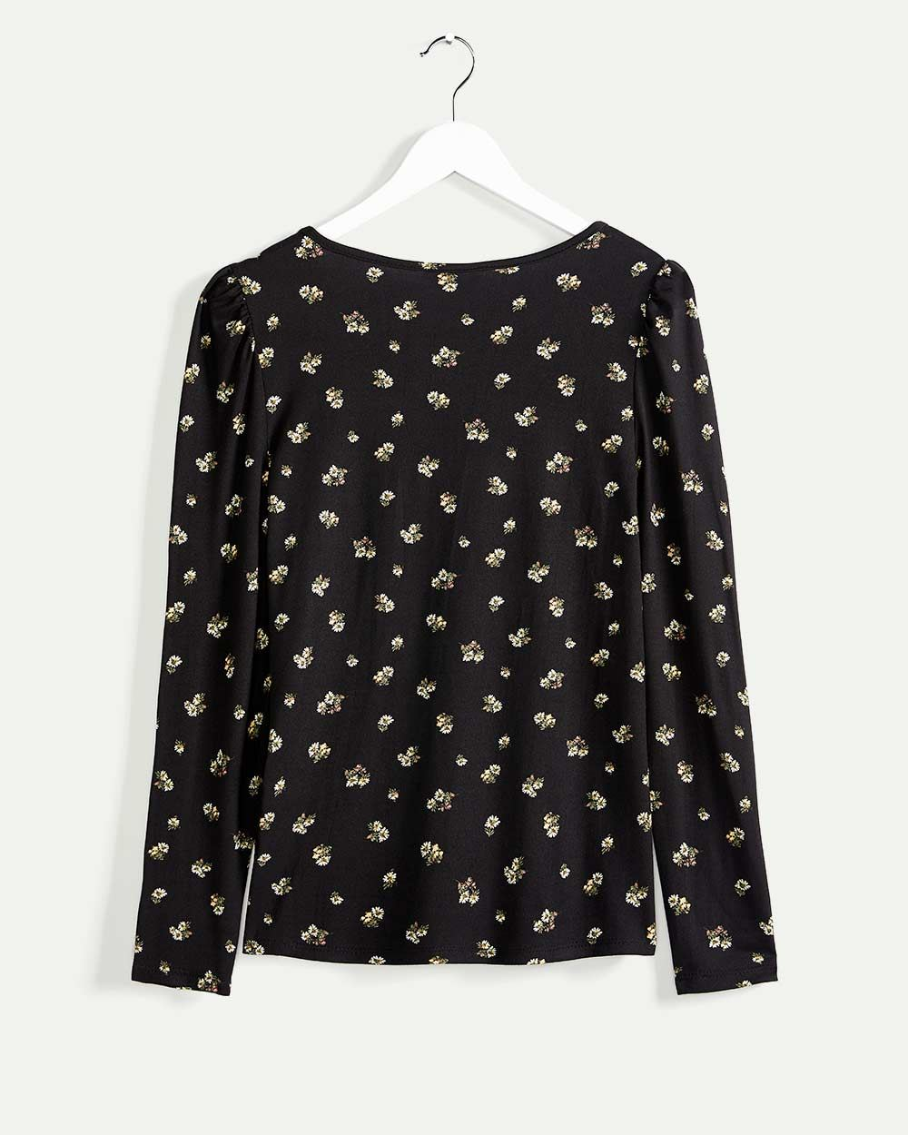 Long Sleeve V-Neck Printed Tee