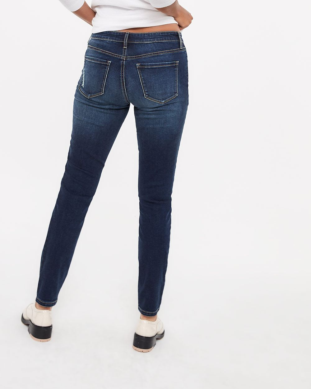The Insider Rip and Repair Medium Wash Skinny Jeans