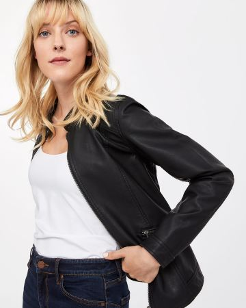 Petite Faux Leather Jacket