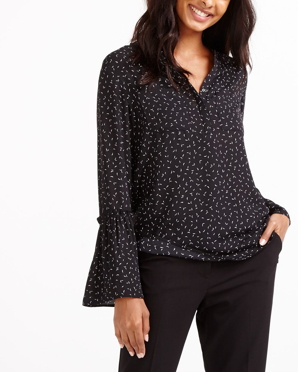a3f8872297 Bell Sleeve Printed Blouse | Women | Reitmans