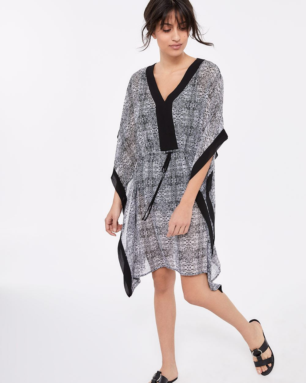 Printed Chiffon Kaftan Cover-Up