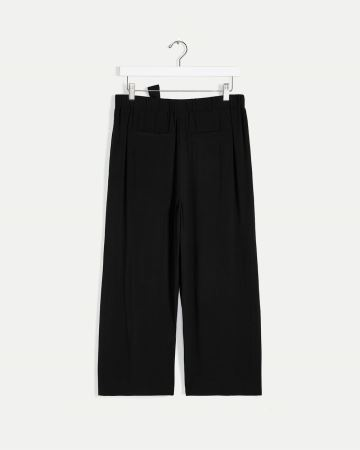 Wide Cropped Pants with Sash