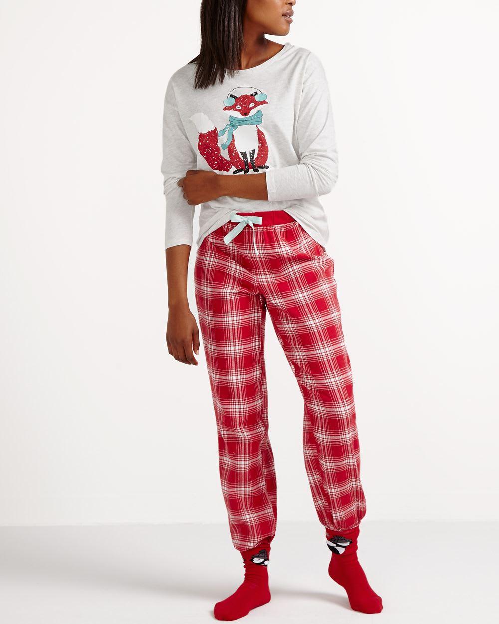 plus de photos 49b23 3ddf4 Ensemble pyjama en flanelle