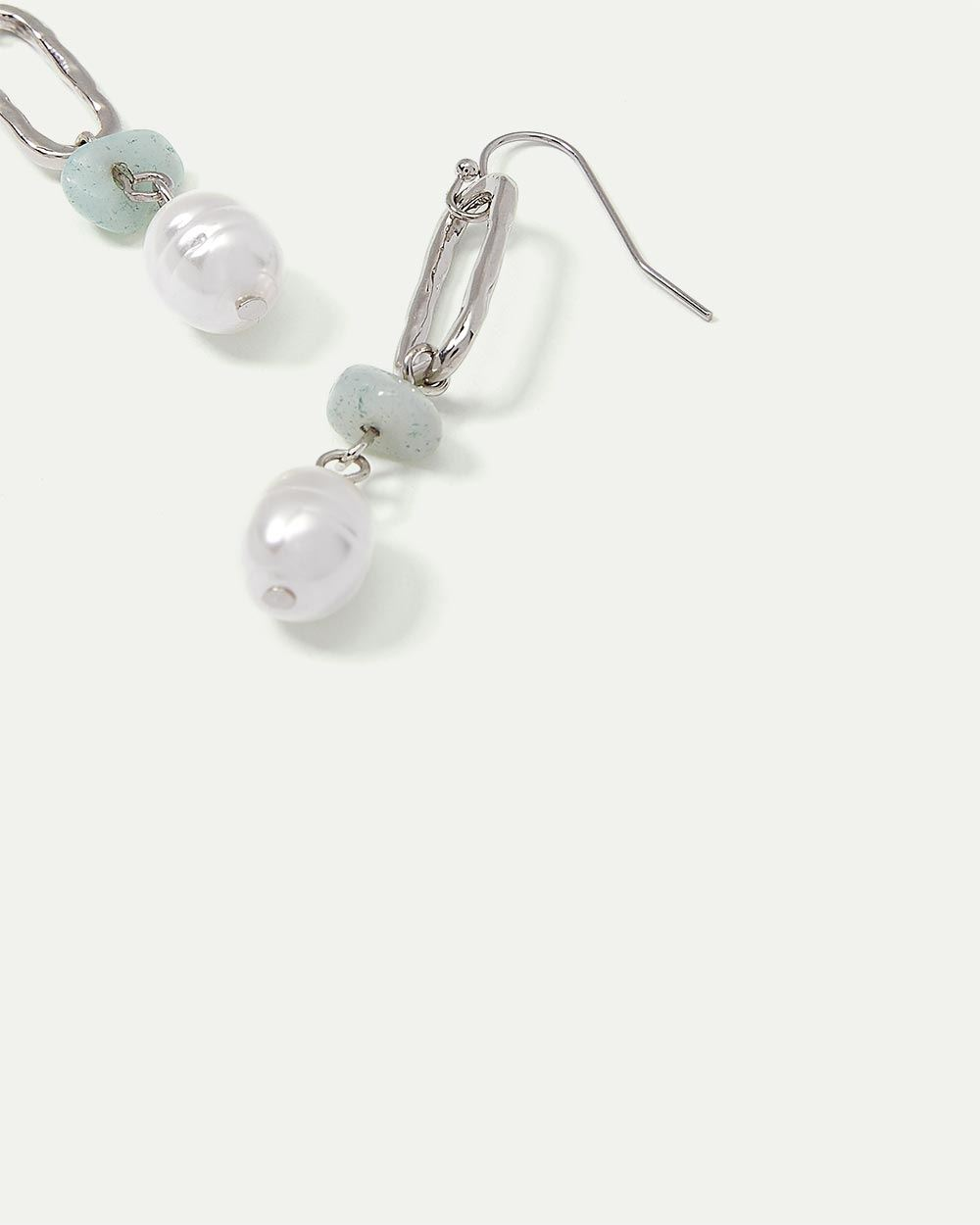 Pendant Earrings with Pearl Drop