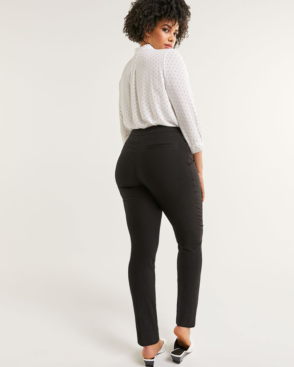High Rise Slim Pull On Pants The Iconic