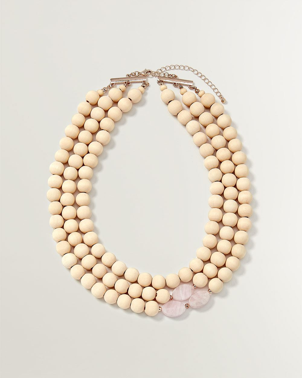 3-Layer Wooded Necklace