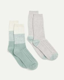 2-Pack Socks - Gradient & Solid