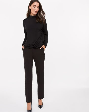 Willow & Thread Dolman Sleeve Mock Neck Top