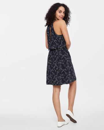 Sleeveless Halter Printed Dress