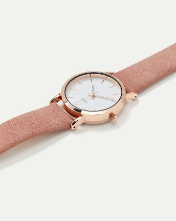 Soft Band Gold Watch