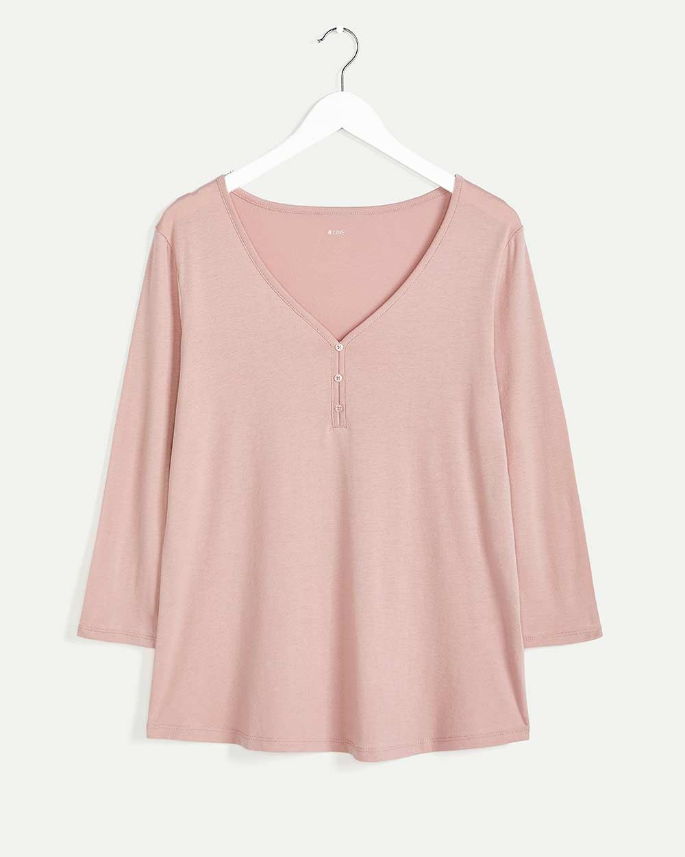 3/4 Sleeve Henley Pyjama Top