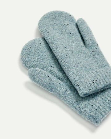 Speckled Knitted Mittens