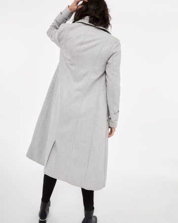 Wool-blend Long Duster Coat