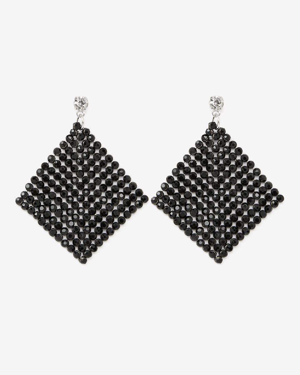 Rhinestones Rhombus Drop Earrings