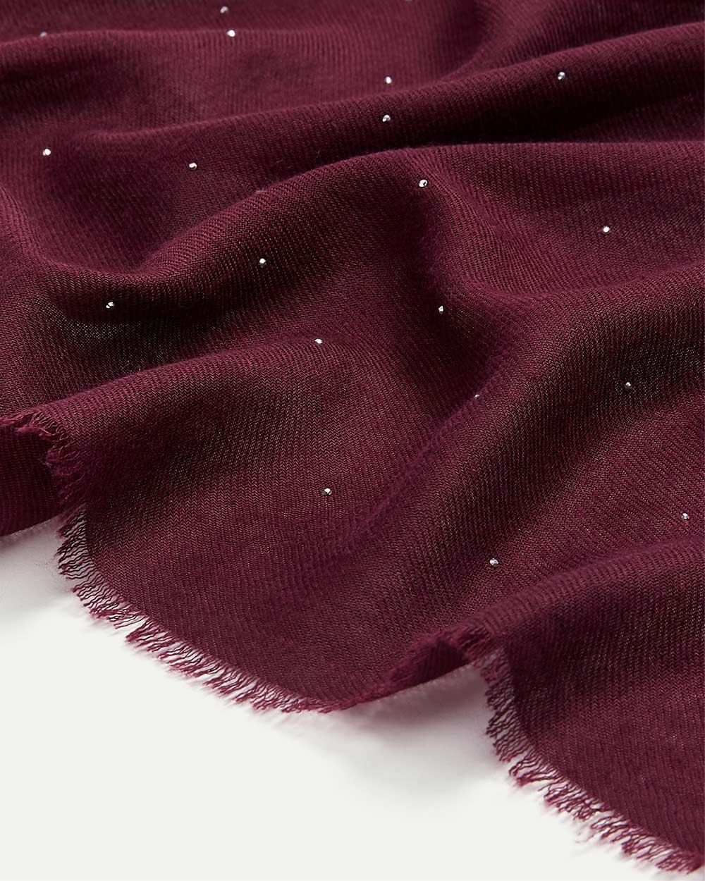 Oblong Scarf with Small Studs