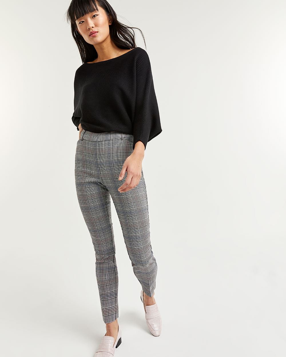 Plaid Ankle Pull On Pants The Iconic