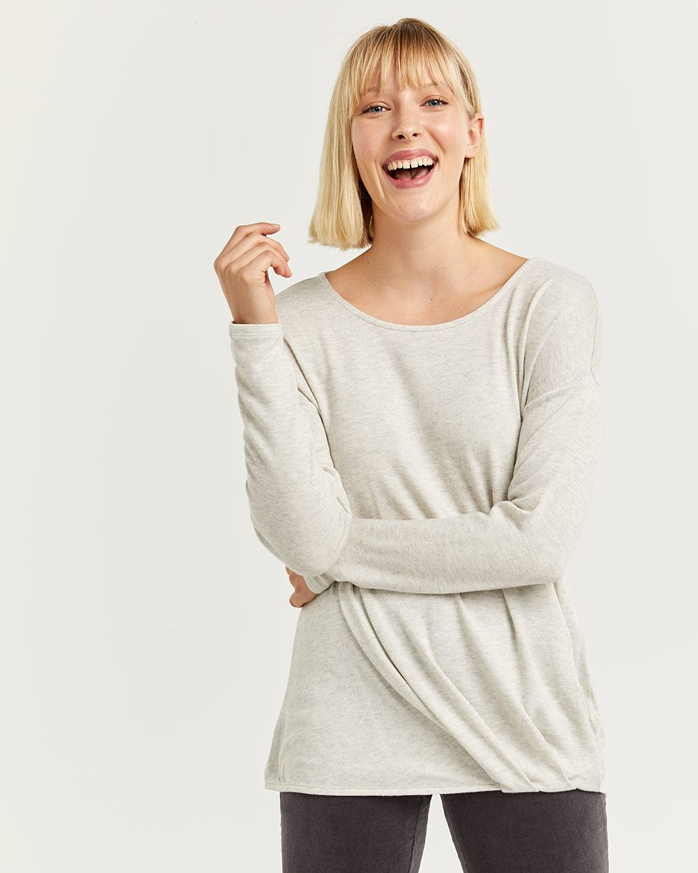Long Sleeve Tee with Twist Front