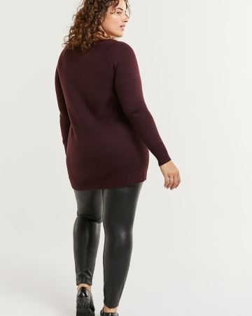 Long Sleeve Side Ribbed Tunic