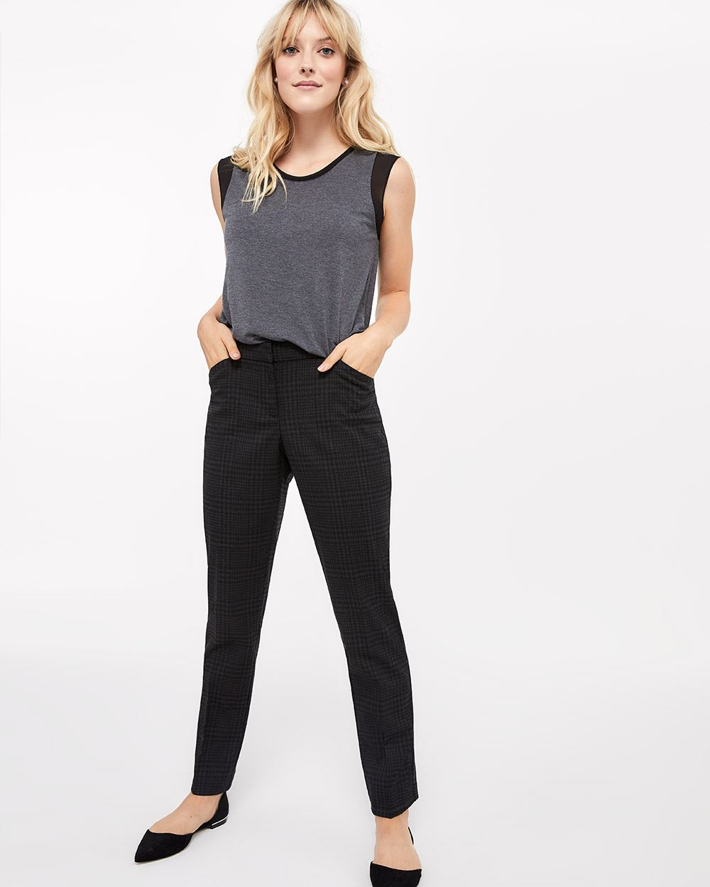 The Petite New Classic Straight Leg Printed Pants