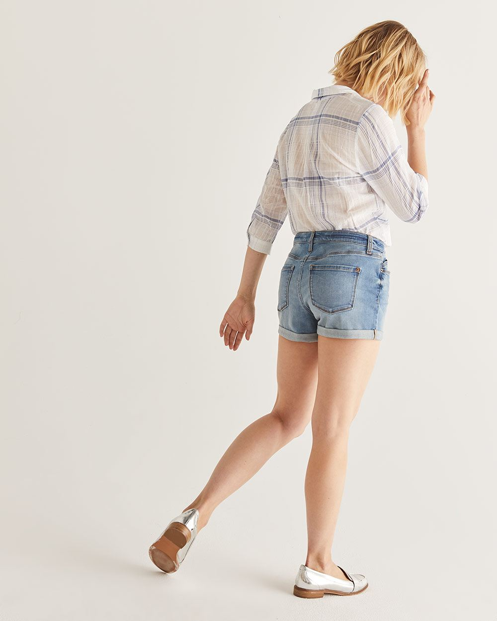 Rolled-up Jeans Shorts