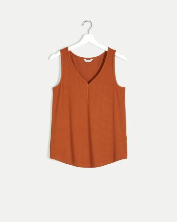 V-Neck Ribbed Tank