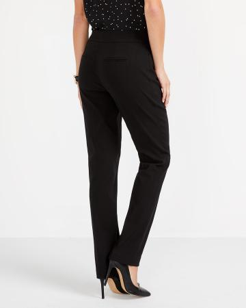 The Iconic Straight Leg Solid Pants
