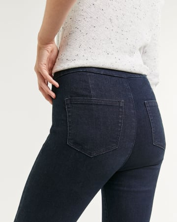 High Rise Denim Pull On Jeggings