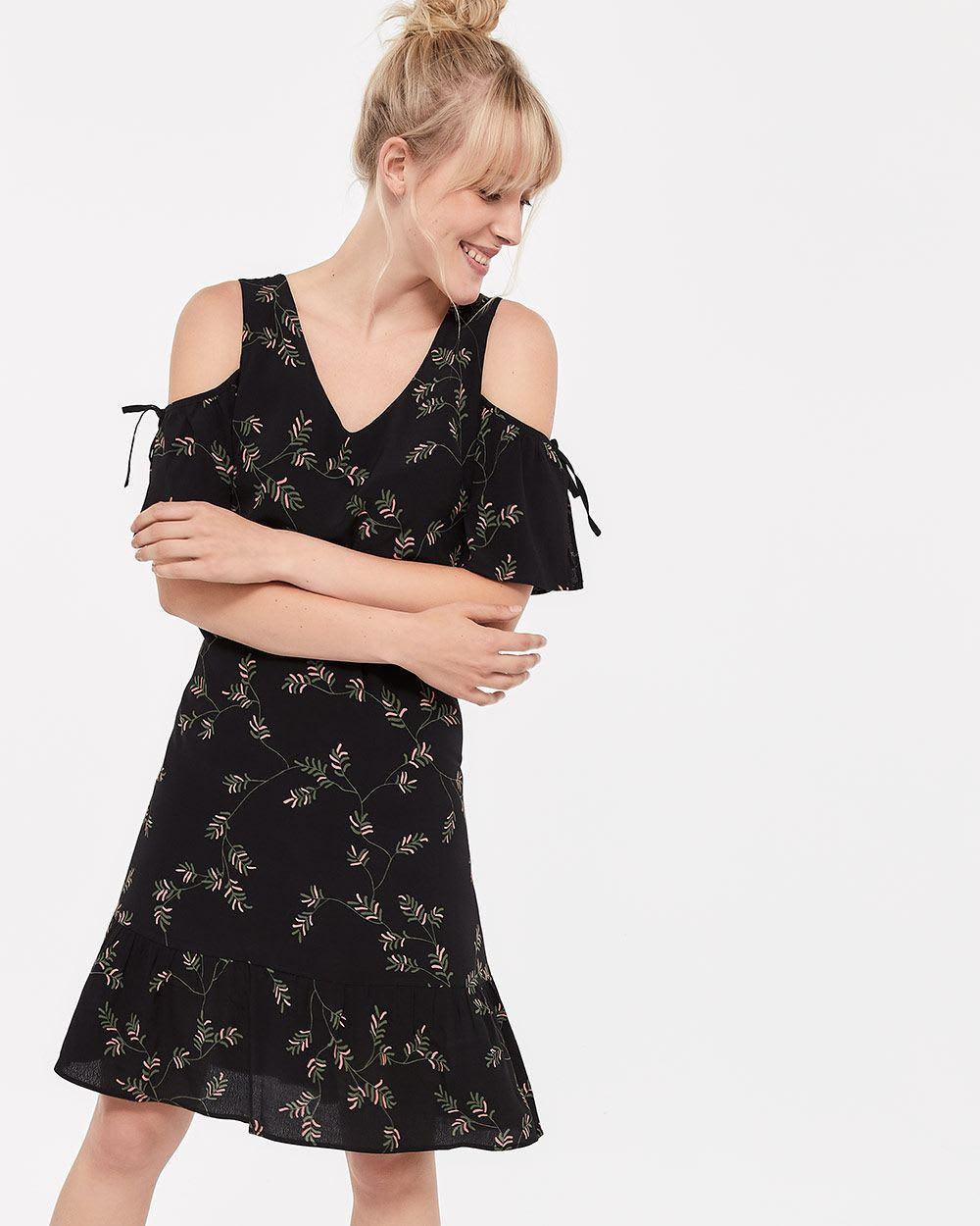 706fd499e5f Cold-Shoulder Printed Dress