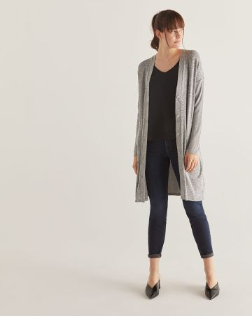 Button-Down Long Cardigan